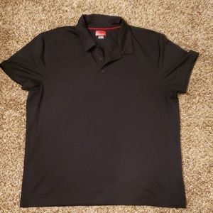 Men's Slim Fit Performance Black Polo Shirt